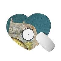 フクロウ マウスパッド かわいいアイテム ハート型 滑り止めゴム底 おしゃれ 雑貨 パソコン PCアクセサリー