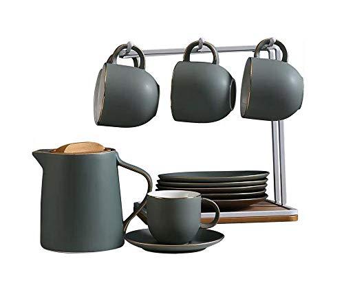 LUYIYI Taza de café Cerámica a Prueba de Calor Sala de Estar Taza de té Sencilla Juego de Agua Europeo