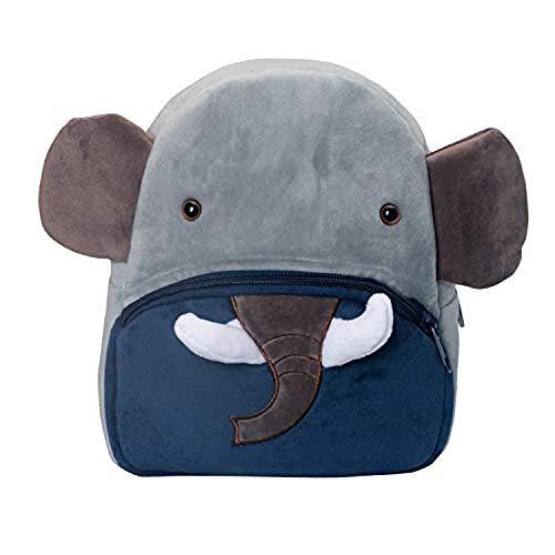 upupupup Giocattoli di pezza Zaino per Bambini Cute Cartoon Beginner Zaino Sacchetto di Scuola per Bambini Ragazzi e Ragazze 1-3 Anni @Elephant