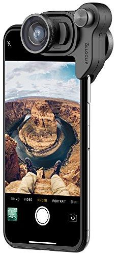 olloclip Connect X Mobile Photography Box Set - Vorsatzlinsen, Handy Objektvi mit Fischauge, Weitwinkelobjektiv und Makro 15X - Schwarz