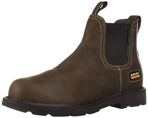 Ariat Groundbreaker Chelsea Waterproof Steel Toe Work Boot – Men's Leather Boots