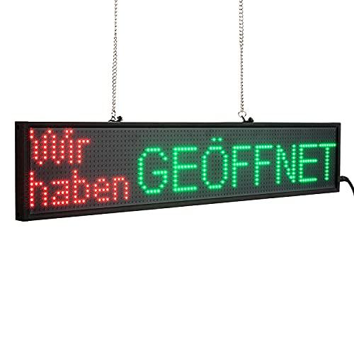 Leadleds P5 LED Panel de visualización programable con mensaje de curso RGB LED 16 x 96 píxeles Uso en interiores para publicidad, empresa, escuela, tienda frontal