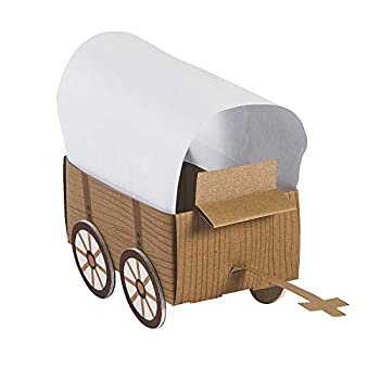 3D Western Covered Wagon Craft Kit - Makes 12 - Craft Kits and Activities for Kids