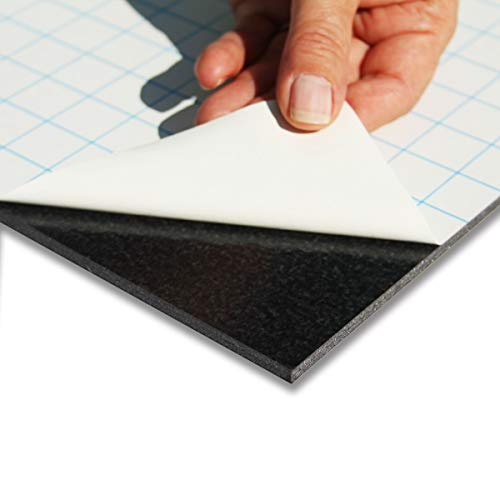 Leichtschaumplatte schwarz selbstklebend - günstige Vorteilspackungen - 30x45cm - 10 Stück - 10mm stark - alle Größen - alle Stärken - Foamboard, Schaumstoffplatte - für Fotos und Präsentationen