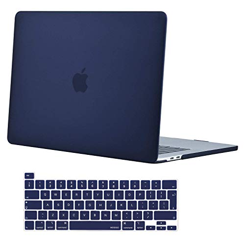 MOSISO MacBook Pro 16 inch Case 2020 2019 Release A2141 with Touch Bar & Touch ID, Ultra Slim Protective Plastic Hard Shell Case & Keyboard Cover Compatible with MacBook Pro 16 inch, Navy Blue
