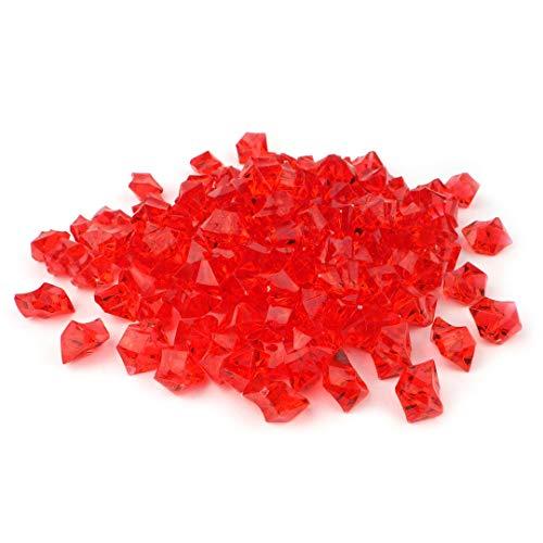 Sepkina w&erschöne Dekosteine Dekosteinchen Ziersteine Tischdeko Hochzeit Steine dekorieren aus Acryl Rot (Rot)