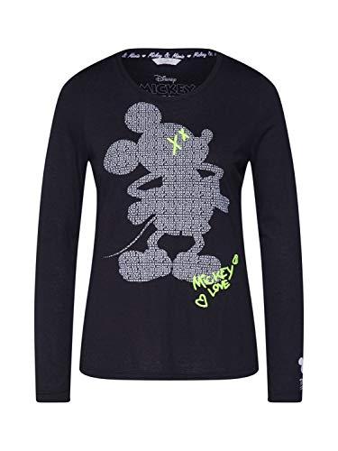 FROGBOX Damen Shirt Mickey schwarz 42 (XL)