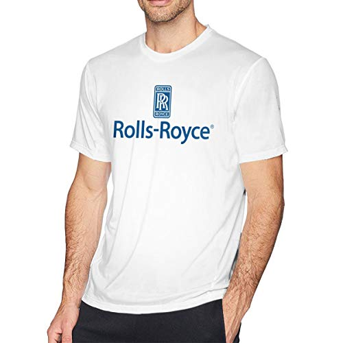 Custom Rolls Royce Logo T Shirts Short Sleeve for Man White XXL