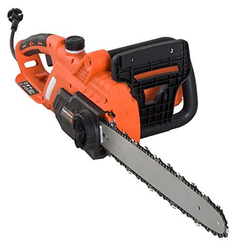 DURHAND Motosega Elettrica Professionale Potenza 2000W Arancione, 84 × 27 × 20 cm