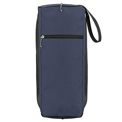 eBuyGB 1315804 Große Golf-Schuhtasche mit Netzeinsatz und Reißverschluss für Golfschläger (blau), L