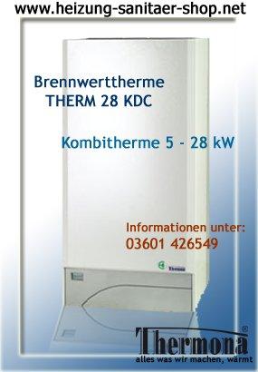 Gastherme Brennwerttherme Kombitherme 28 KDC für Erdgas E