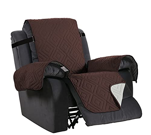 KJLYU Waterproof Recliner Chair Cover, Divano Cover Covers Pet Dog Kids Sofa Mat per Soggiorno Mobili Protector Divano Cover (Color : Brown, Specification : Oversized Recliner)