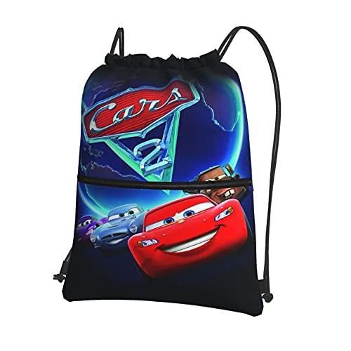 Disney Cars Lightning McQueen - Mochila con cordón, mochila a granel, bolsa de cincha, bolsa de deporte para la escuela, gimnasio, viajes