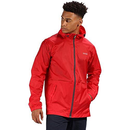 Regatta Herren Pack It JKT III Waterproof and Breathable Packaway Shell Jacke, Pfeffer/Seal Grey, Größe S