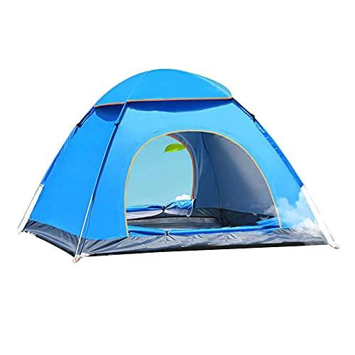 N\P Carpa Plegable Automática para Acampar,Carpa Plegable para 1-3 Personas Carpas Plegables para La Playa Automáticas,Toldo para Acampar Al Aire Libre O Viajes. 200×140×110cm /Azul