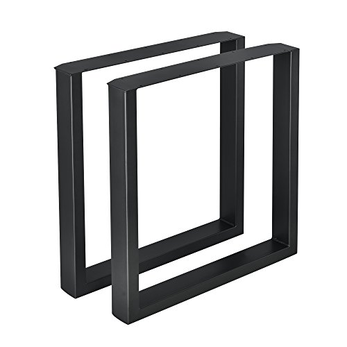 [en.casa] 2X Tischgestell 70 x 72cm Schwarz Stahl Tischkufen Tischbein