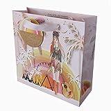 five dollar shake, sacchetto regalo di lusso, dimensioni medie, 22 x 22 x 8 cm, tramonto coachella, mer08