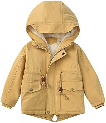 Boys' winter Coat Cotton-Thick Padded Puffer Jacket Hooded Fleece Coat