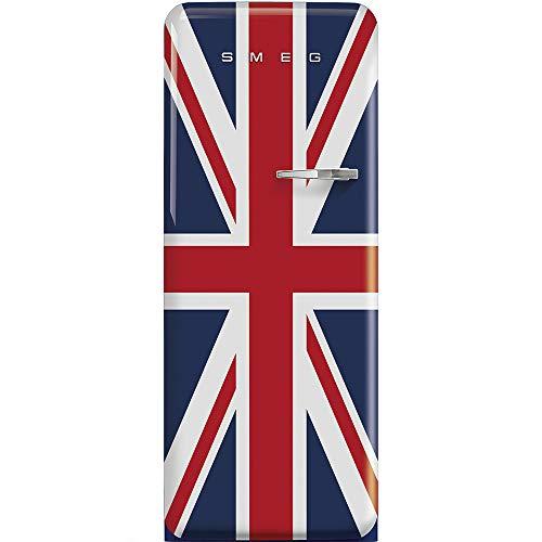 Smeg Frigorifero monoporta anni'50 FAB28LDUJ3 finitura Union Jack da 60 cm cerniera a SX