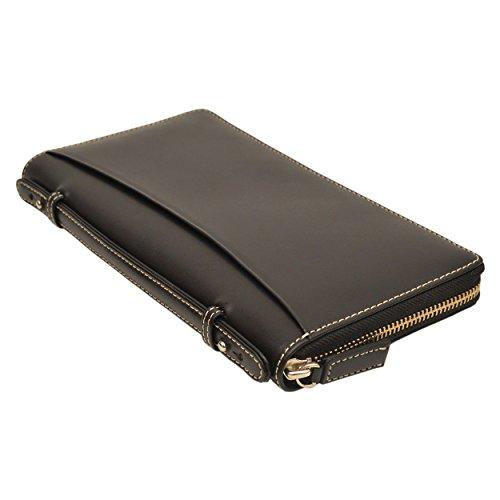 パスポートケース 牛革 DUCT トラベルオーガナイザー イタリアンレザー NL-099 (ブラック)