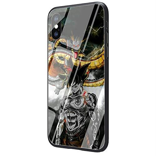 Anime Cartoon Dragon Ball Z Super DBZ Vetro Temperato Cassa Della Copertura Del Telefono per iPhone SE 2020 6 S 7 8 Plus X XR XS Max 11 Pro Max (1, iPhone SE 2020)