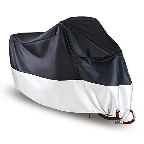 Riloer Funda impermeable para motocicleta, resistente al agua, para uso exterior, protector de scooter, M/L/XL