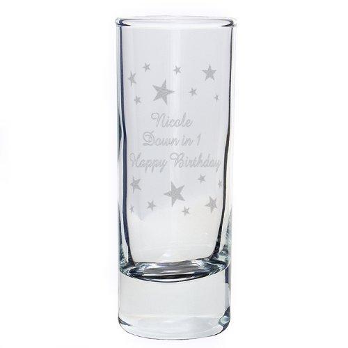 Diseño de rombos en Set de vasos para chupito personalizable vasos regalo con texto en inglés