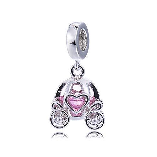 EVESCITY - Abalorio de plata de ley 925 con cristales de Swarovski, diseño de princesas reales, ideal como regalo para ella