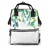 nbvncvbnbv Green Vines Plants Bolsa de pañales Mochila de viaje impermeable Bolsas de pañales para el cuidado del bebé Bolsillos múltiples para organización Ideal para bolsas de pañales de viaje