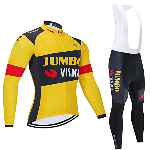 Bike Combinaisons de Cyclisme pour Hommes avec Cuissard rembourré de Gel pour Le Cyclisme en équipe