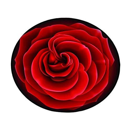Moquettes tapis et sous-tapis Style européen, roses créatives, rondes, le salon, tapis, tapis, panier, pivot, tabouret, ordinateur, chaise, coussin, mignon, chambre, lit, couverture, tapis