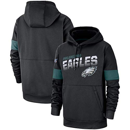 FMSports Men's Long Sleeve Hooded 3D Print NFL Football Team Pullover Hoodies,Philadelphia Eagles Sweatshirt Pullover Hoodies,XXXL~190~195CM