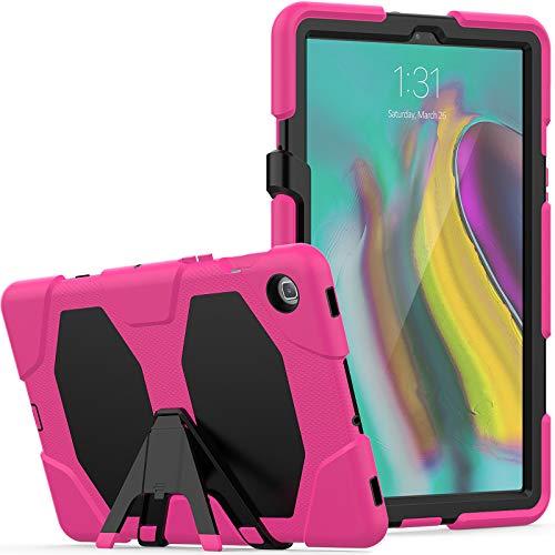 Lobwerk 3-in-1 hoes voor Samsung Galaxy Tab S5e 10,5 inch SM-T720 T725 Outdoor Cover met displaybescherming + standaard roze