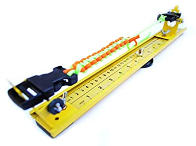 """Acid Tactical 15"""" Adjustable Paracord Jig - Lightweight Aluminum - for Bracelets, Keychains, More - Accommodates Any Clasp or Hook"""