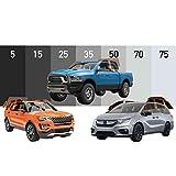 MotoShield Pro - Premium Precut Ceramic Window Tint for Truck, SUV, Mini Van (Superior Heat Control/Blocks 99% UV) 2mil - All Sides + Rear Window