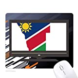 la république de namibie afrique tapis de souris informatique bureau de caoutchouc antidérapant.