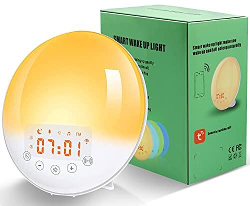 Larkotech Radio Réveil Lumineux, Lampe Réveil Lampe de...