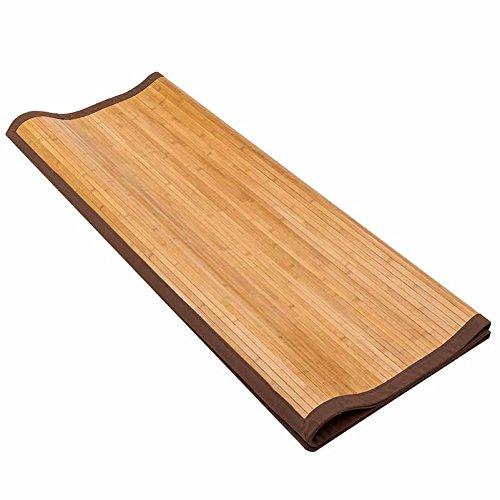 """5' X 8' Floor Carpet, Bamboo Area Rug Floor Carpet Natural Bamboo Non-Slip Roll Runner Indoor Outdoor for Bathroom, Kitchen, Garden (60"""" x 96"""")"""
