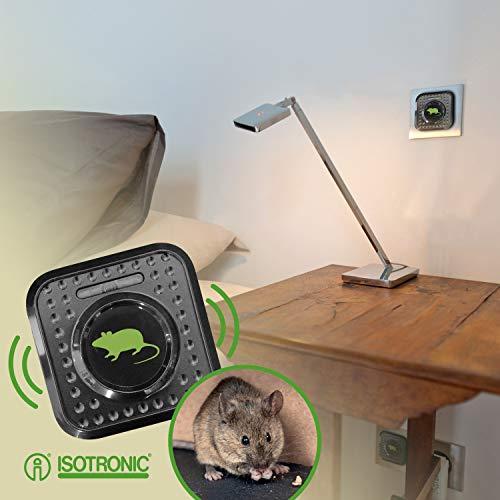 ISOTRONIC Prise Anti Souris/Rat RéPulsif Ultrasons Ultrason Electrique Appareil Insectes Usage...