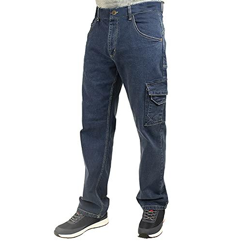 Lee Cooper Workwear sécurité Carpenter Jeans en denim extensible travail PANTALON, Bleu clair, taille 38' Grande Taille 31' Leg LCPNT239_LIBL2_38