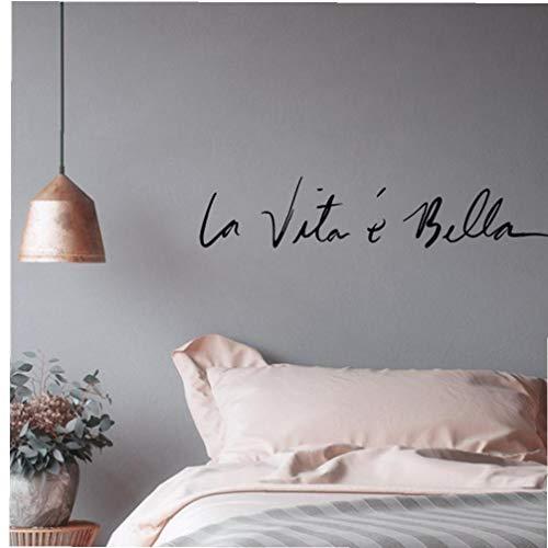 Nordic La Vita E Bella Citazioni Wall Sticker Italiana Frase Wallpaper Stickers