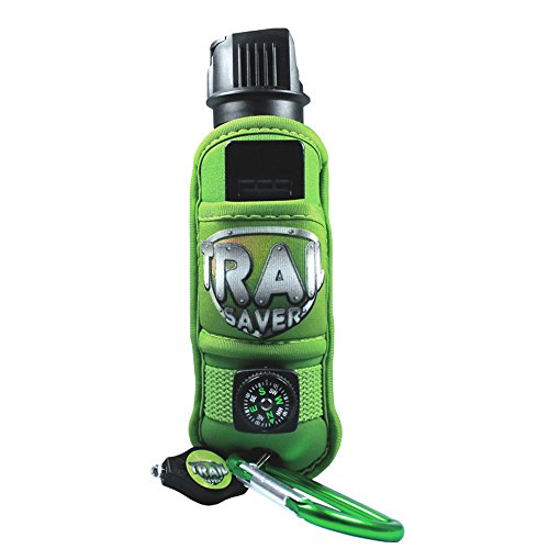 Trail Saver Pepper Spray for Hiking, Camping & Frontiersman - Police Grade Strength - Repellent & Deterrent for Dogs & Wild Animals - Safety Package w/Compass, LED Light, Safety Whistle & Carabiner