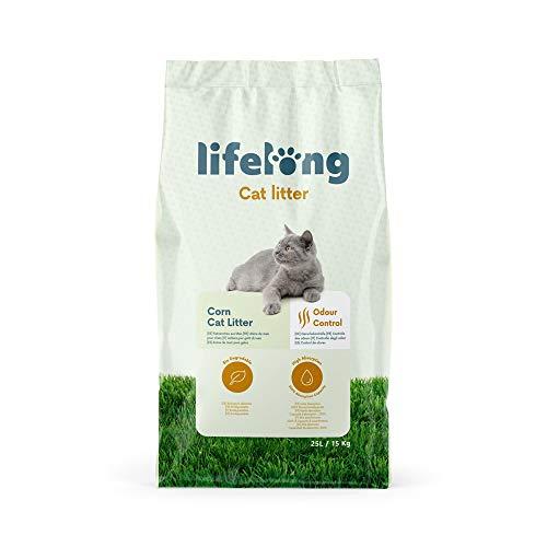 Amazon-Marke: Lifelong Mais Katzenstreu 25L
