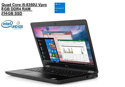 "Dell Latitude 5000 5490 14"" HD (1366x768) Business Laptop (Intel Quad-Core i5-8350U VPro, 8GB DDR4 RAM, 256GB SSD) Backlit, Type-C, VGA, HDMI, Webcam, Windows Hello, Windows 10 Pro 64-bit"