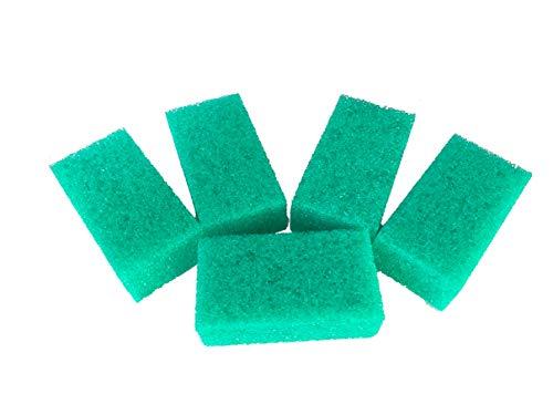 Lot de 5 pierre de nettoyage éponge de rechange. éponges, éponge anti-mouches – vert – Taille. 11 x 4 x 6 cm