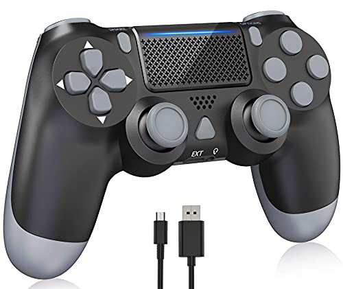 Y-Team Wireless Controller for PS4 Video Game Gamepad Controller with Motors Touchpad Joystick Audio Indicator and USB Cable for Playstation 4/Pro/Slim?Black?