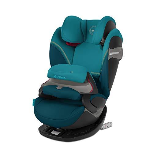 CYBEX Gold 2-in-1 Kinder-Autositz Pallas S-Fix, Für Autos mit und ohne ISOFIX, Gruppe 1/2/3 (9-36 kg), Ab ca. 9 Monate bis ca. 12 Jahre, River Blue