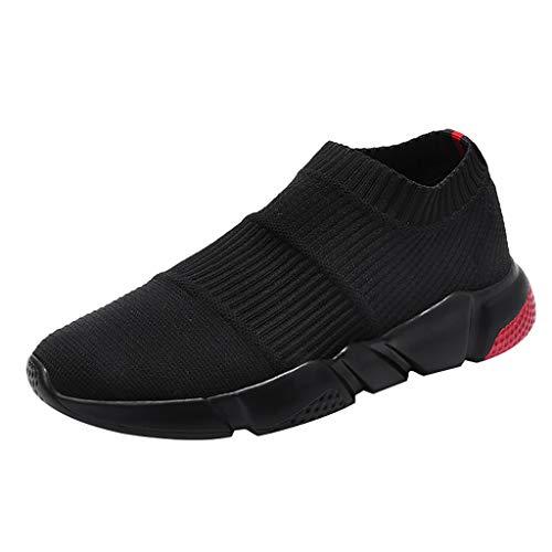 AIni Herren Schuhe Mode Beiläufiges 2019 Neuer Heißer Sommer Socken Flut Schuhe Casual Schlüpfen Sneaker Mesh Breathable Sneakers Freizeitschuhe Partyschuhe (43,Rot)