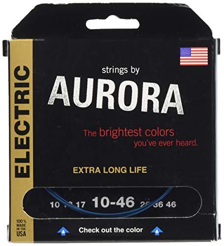 Aurora Electric Guitar Strings 10 Gauge Blue