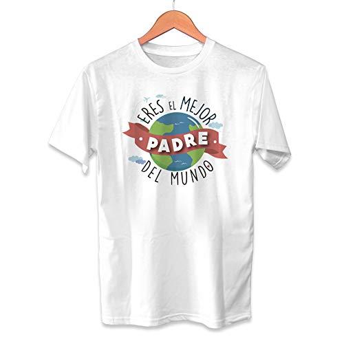 Muy Chulo Camiseta Eres el Mejor Padre del Mundo Dia del Padre - Unisex Tallas Adultas e Infantiles - Frase motivadora - Regalo Original para Papá